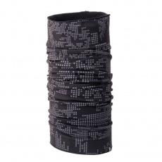 AS-1030OR unisex nákrčník tenký elastický reflexný  DONGSTY black