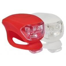 blikačky MAX1 Frog sada 2 ks bílá/červená