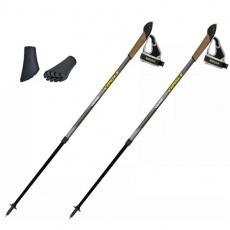 Gray Nordic Walking Poles Vipole Vario Top-Clic P20452