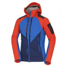 BU-3900OR Pánska outdoor softshellová bunda s ochrannou vrstvou 3L BARRETT redblue