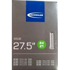 """duše SCHWALBE AV21 27.5""""x1.50-2.40 (40/62-584) AV/40mm"""