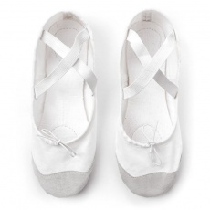 Meteor cotton and leather ballet shoes