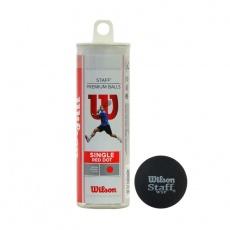 Wilson Staff Red Squash Ball - Medium 3pcs WRT618500