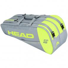 Core 6R Combi tennis bag gray-lime