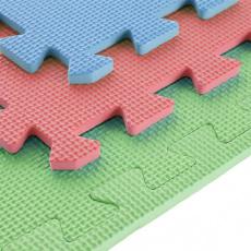Ochranná puzzle podložka ONE Fitness MP10 zelená-modrá-červená
