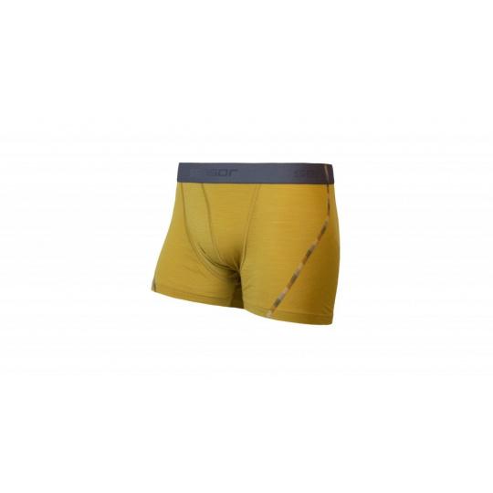 boxerky SENSOR MERINO AIR žluté
